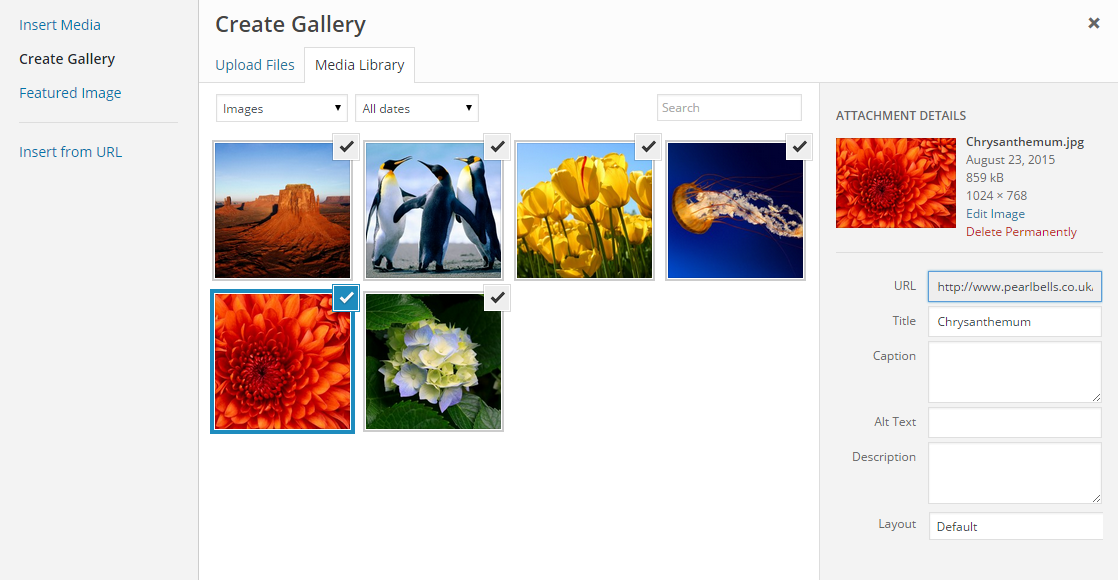 Create Gallery Wp Plugin
