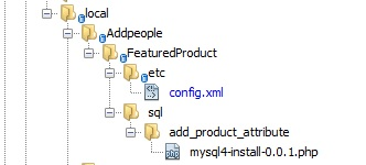 Custom product attribute file structure