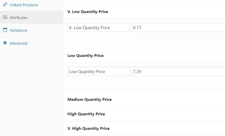 Bulk update product variation price woocommerce